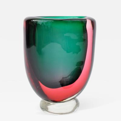 Flavio Poli Thick Kidney Form Seguso Vase