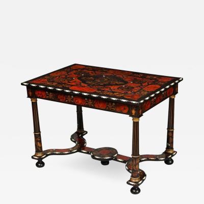 Flemish Baroque Marquetry Decorated Table