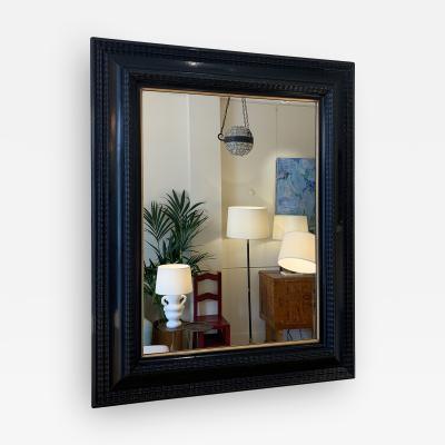 Flemish Style Ebonised Ripple Frame Mirror