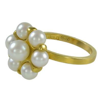 Flemming Eskildsen Georg Jensen Gold Ring No 903 with Pearls
