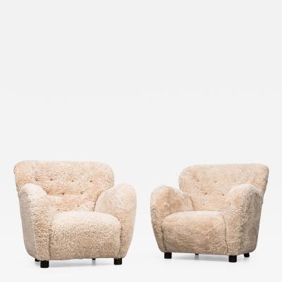 Flemming Lassen Flemming Lassen Easy Chairs by Cabinetmaker A J Iversen in Denmark
