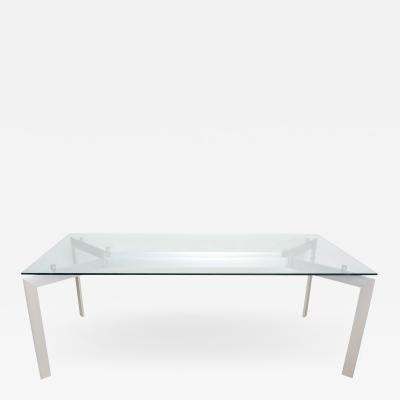 Floating Glass METRA Dining Table Makio Hasuike for SECCOSE Italy 1990s