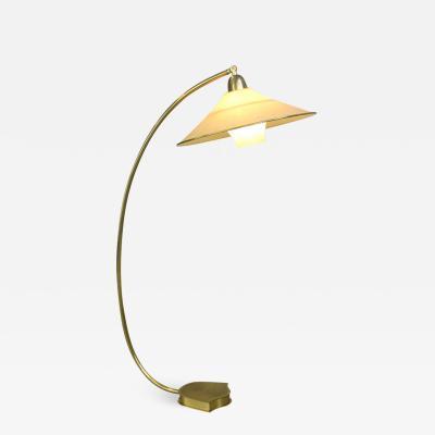 Floor Standing Brass Reading Lamp By AEG Circa 1940s