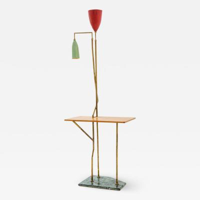 Floor lamp with built in table
