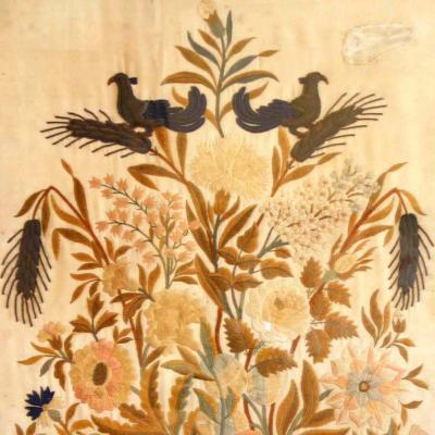 Floral Silk Embroidery Needlework