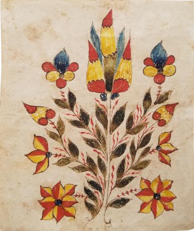 Floral drawing from Bucks County Pennsylvania