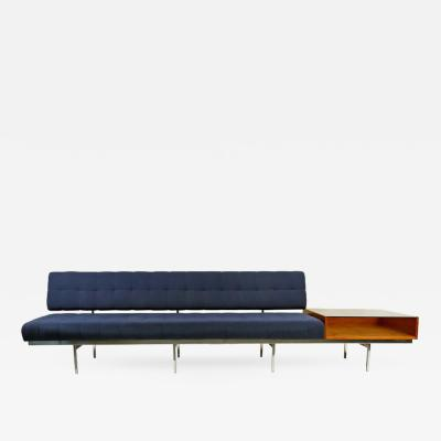 Florence Knoll Architectural Florence Knoll Sofa with Table Attachment for Knoll