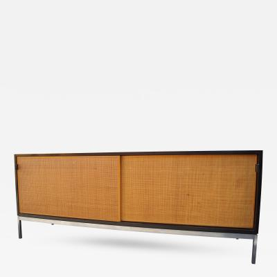 Florence Knoll Cabinet with Cane Doors by Florence Knoll