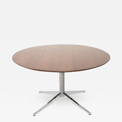 Florence Knoll Classic KNOLL Walnut Round Table Dining Conference 1961