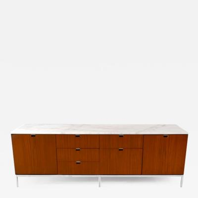 Florence Knoll Credenza Teak Marble by Florence Knoll