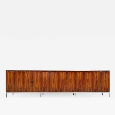 Florence Knoll Custom Bookmatched Brazilian Rosewood Florence Knoll Media Cabinet