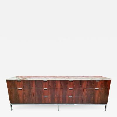 Florence Knoll FLORENCE KNOLL BRAZILIAN ROSEWOOD CREDENZA FOR KNOLL