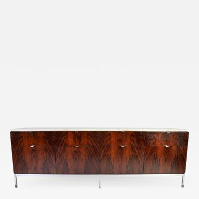 Florence Knoll Florence Knoll 8 Drawer Rosewood Credenza with Carrara Marble Top
