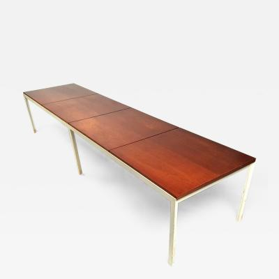 Florence Knoll Florence Knoll Architectural Table Bench in Walnut for Knoll