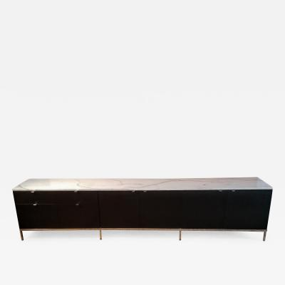 Florence Knoll Florence Knoll Credenza Sideboard with a Calacatta Marble on Ebonized Oak 1961