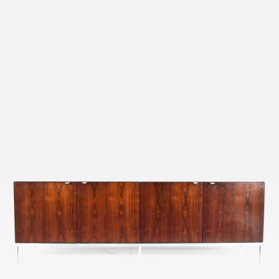 Florence Knoll Florence Knoll Rosewood Credenza with Calacatta Marble Top