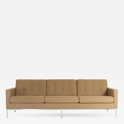 Florence Knoll Florence Knoll Sofa in Camel Wool Flannel