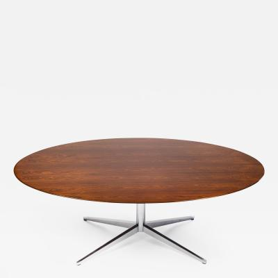 Florence Knoll Florence Knoll Table Desk in Exotic Brazilian Rosewood for Knoll International