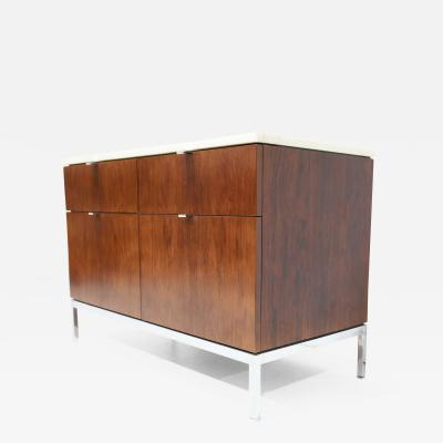 Florence Knoll Florence Knoll Two Bay Rosewood Credenza with Calacatta Marble Top