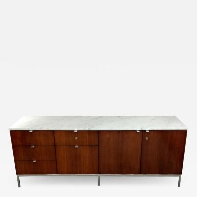 Florence Knoll Florence Knoll credenza in rosewood with Calacatta marble top 1964