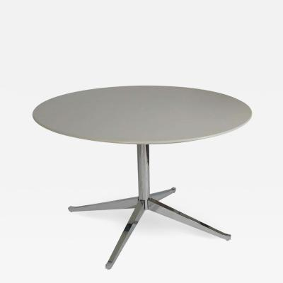 Florence Knoll Mid Century Modern Round Dining Table or Desk by Florence Knoll for Knoll