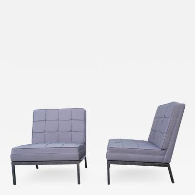 Florence Knoll Pair of Armless Lounge Chairs by Florence Knoll for Knoll