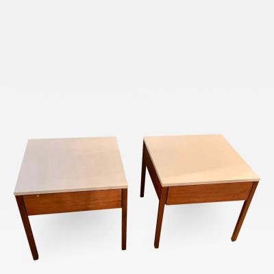 Florence Knoll Pair of Mid Century Modern Signed Florence Knoll Nightstands or End Tables