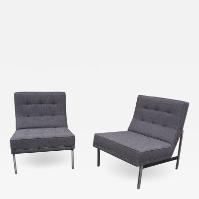 Florence Knoll Pair of Parallel Bar Lounge Chairs Model 51 by Florence Knoll