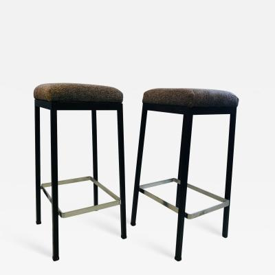 Florence Knoll Stylish Pair of Early Stools by Florence Knoll