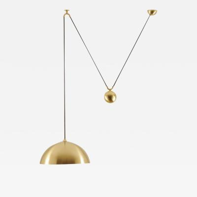 Florian Schulz DUOS 36 Pendant Lamp with Side Pull in Brass by Florian Schulz Germany