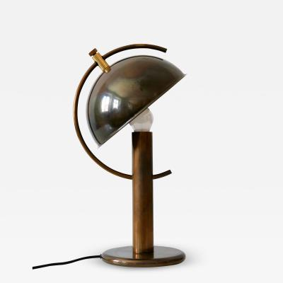 Florian Schulz Exceptional Mid Century Modern Brass Table Lamp by Florian Schulz Germany 1970s