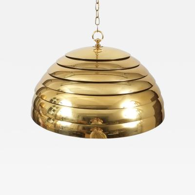 Florian Schulz Florian Schulz Large Brass Dome Pendant with Translucent Diffuser