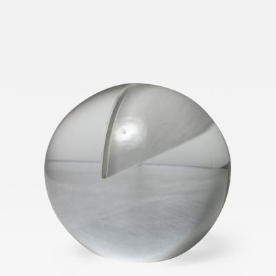 Floris Meydam Glass Spherical Sculpture by Floris Meydam for Leerdam
