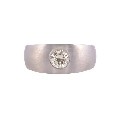 Flush Set Diamond Ring Size 8 25