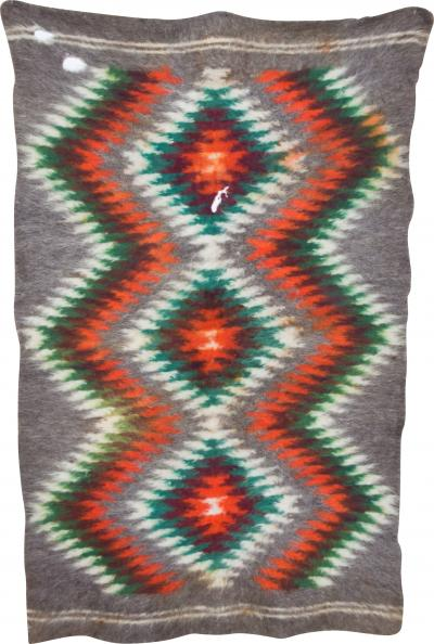 Folk Art Native American Wool Blanket Wall Art Bold Graphics Vivid Color