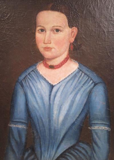 Folk Art Portrait of a Woman