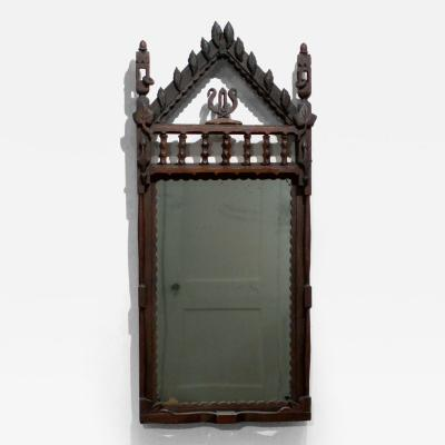 Folk Carved Frame with Original Mirror Chicago circa 1905