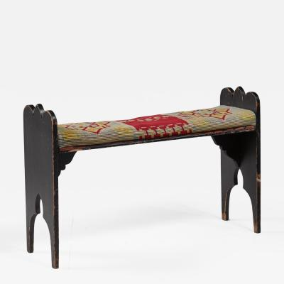 Folk art bench from Sweden late 19th century