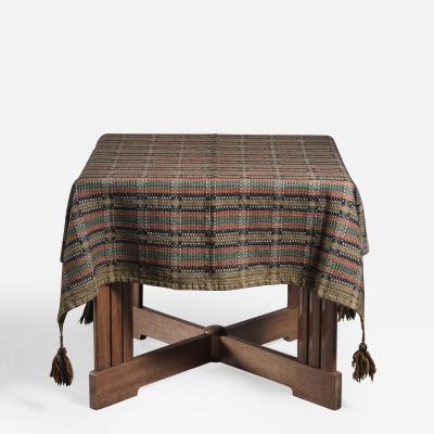Folk art wool cover or tablecloth