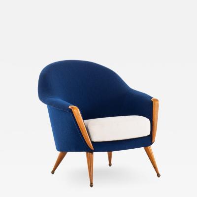 Folke Jansson Easy Chair Model Orion Produced by SM Wincrantz