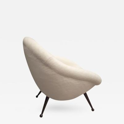 Folke Jansson Folke Jansson Superb Egg Chair Newly Covered in Wool Faux Fur