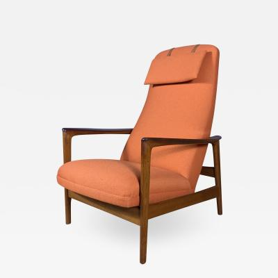 Folke Ohlsson 1960s Swedish Folke Ohlsson Reclining Lounge Chair for Dux