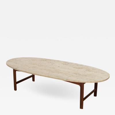 Folke Ohlsson DUX Travertine Coffee Table