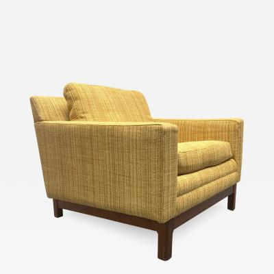 Folke Ohlsson Folke Ohlsson for DUX Lounge Chair with Solid Walnut Base