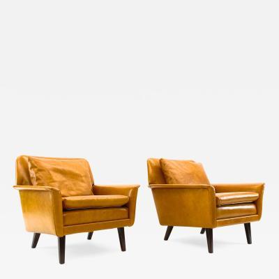 Folke Ohlsson Folke Ohlsson for Fritz Hansen Comfortable Pair of Lounge Chairs