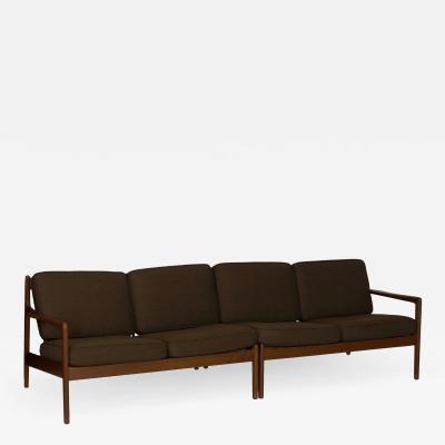 Folke Ohlsson Mid Century Modern Folke Ohlsson for DUX Pair of Sectional Loveseat Sofas