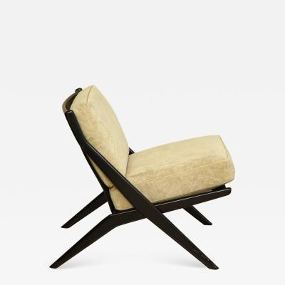 Folke Ohlsson Vintage Folke Ohlsson Ebonized Scissor Chair