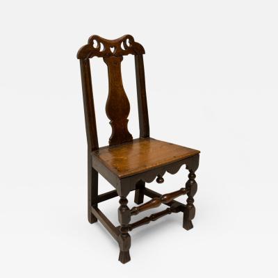 Folky Welsh Queen Anne Side Chair