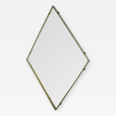 Fontana Arte A Diamond Shaped Wall Mirror by Fontana Arte