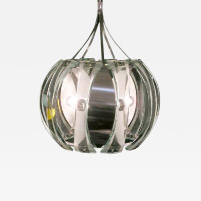 Fontana Arte A Large Crystal Ball Chandelier by Fontana Arte
